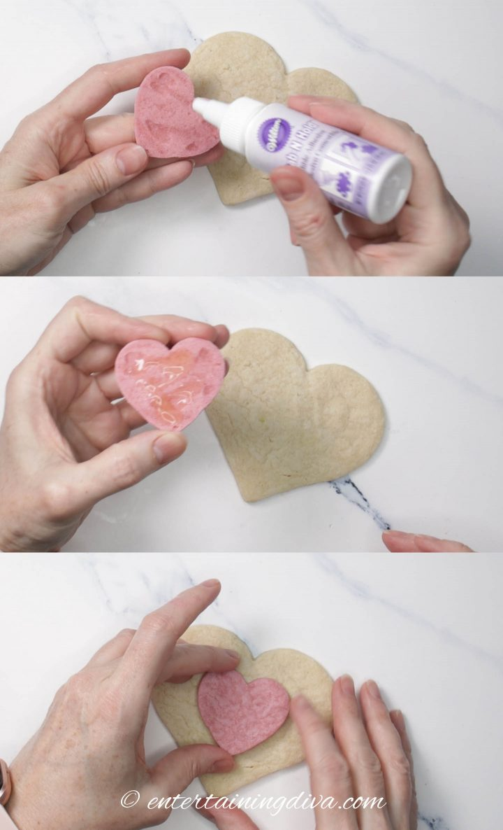 How to use edible glue to stick cookies together