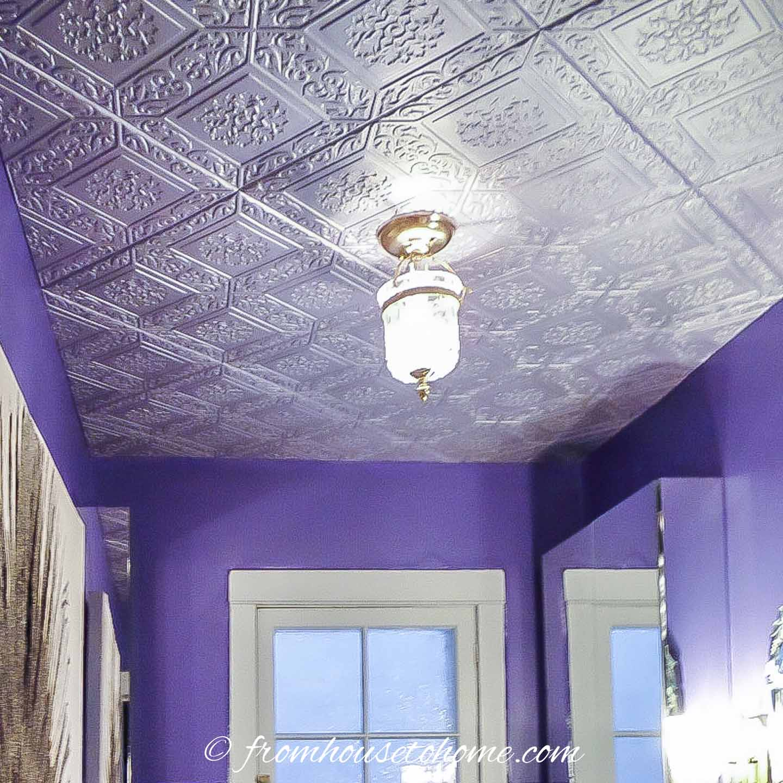 How To Install Styrofoam Faux Tin Ceiling Tiles