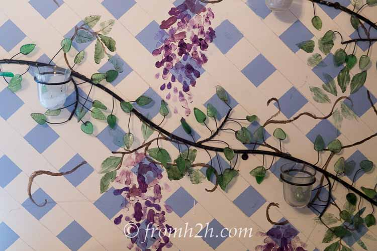 How To Paint A Trellis Wall