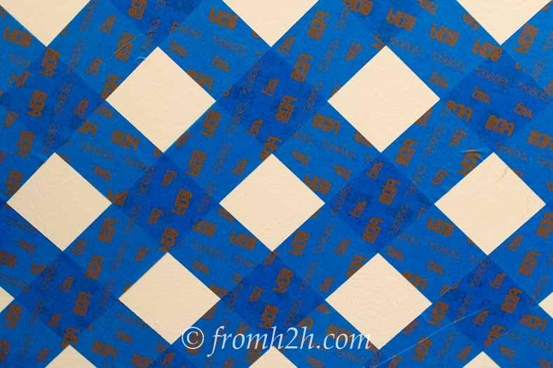The tape creates a trellis pattern