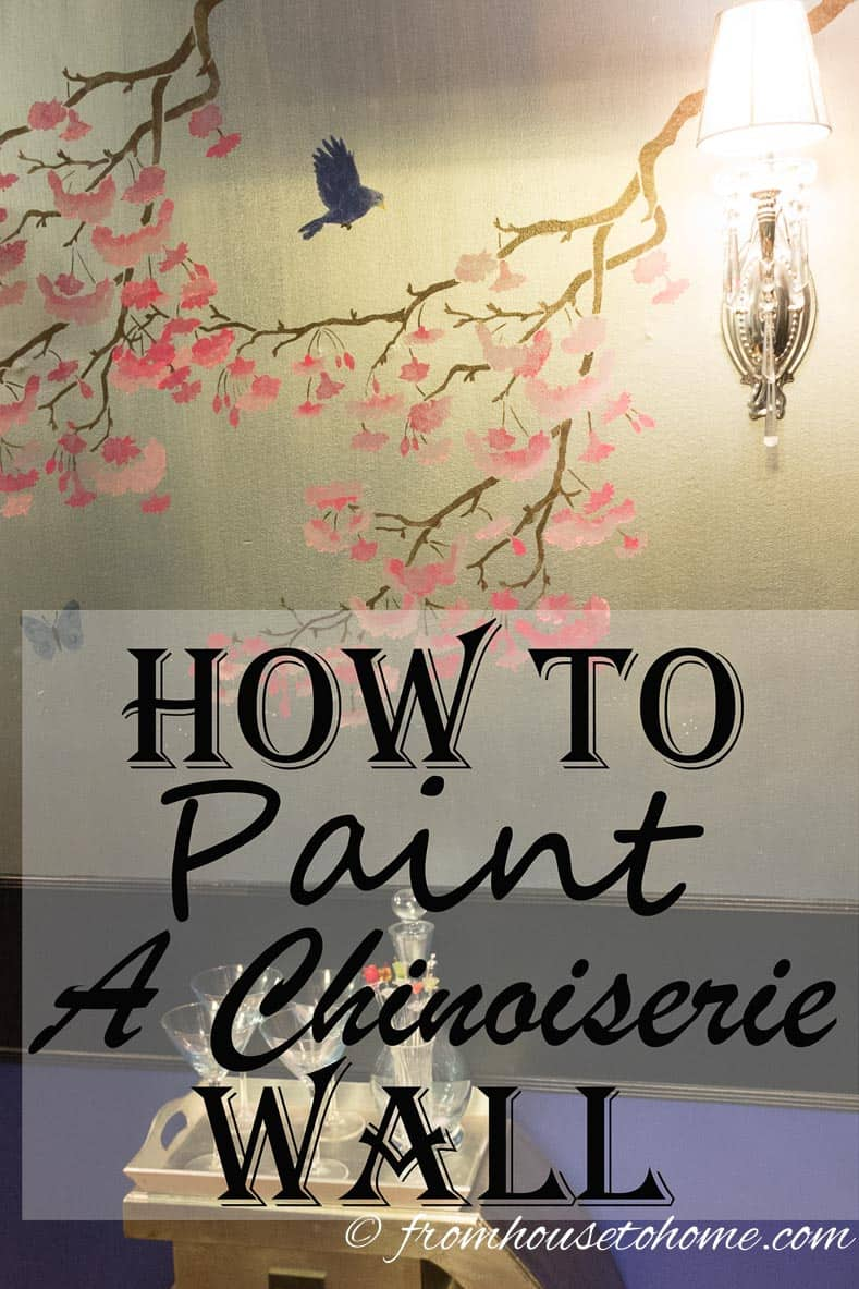 How To Paint A Chinoiserie Wall From House To Home