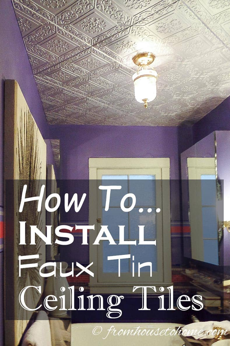 How To Install Styrofoam Faux Tin Ceiling Tiles