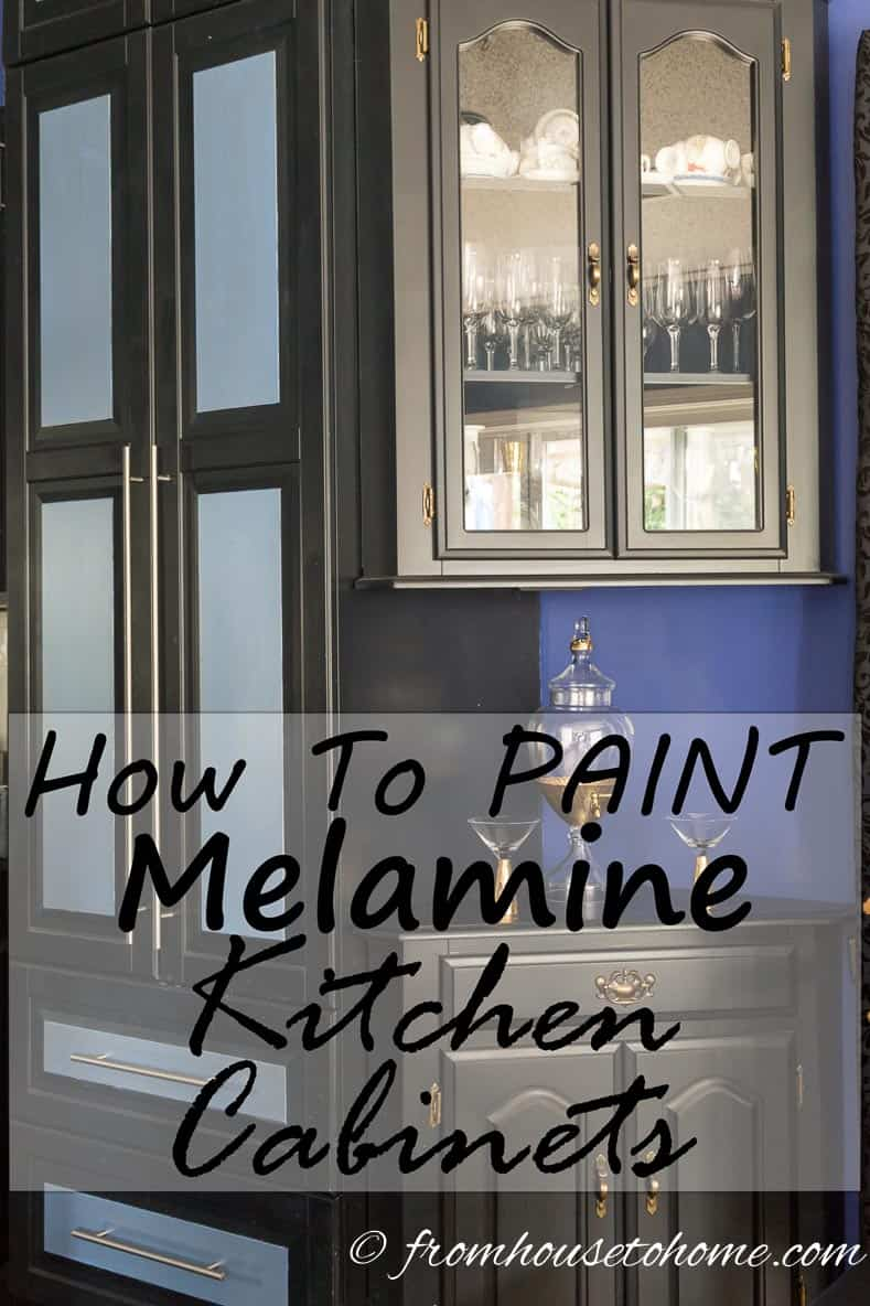 How To Paint Melamine Kitchen Cabinets