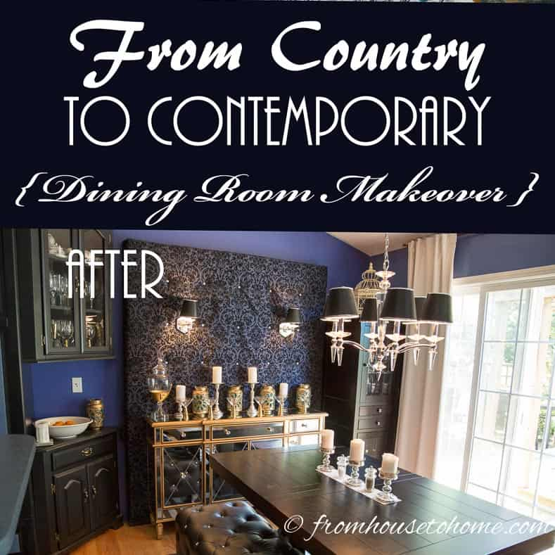 From Country To Contemporary Dining Room Makeover