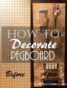 How To Decorate Pegboard