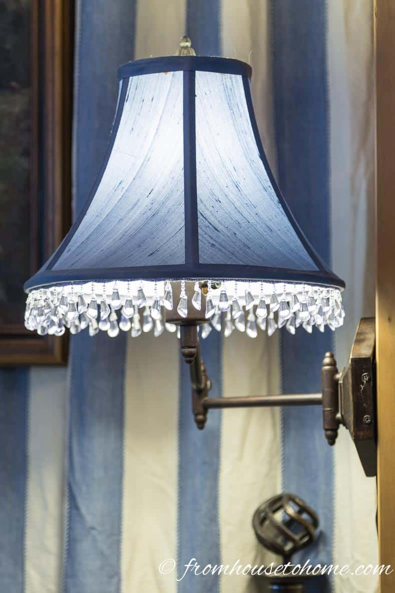 Solid color blue silk lamp shade |How To Pick The Right Fabrics Every Time? The Mix and Match Fabric Formula