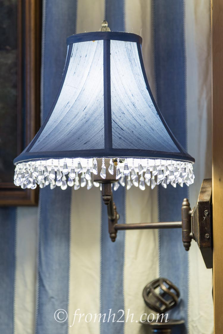 Swing Arm Lamp With Beaded Trim