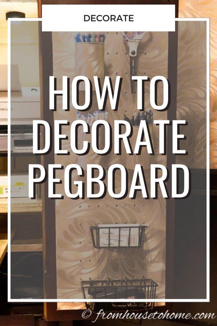 decorate pegboard