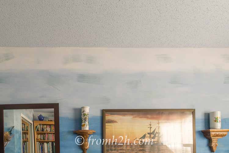 10 Easy Ways to Decorate The Ceiling On A Budget | Want to add some spice to your rooms? Get rid of that boring white ceiling! Check out these easy ways to decorate the ceiling on a budget.