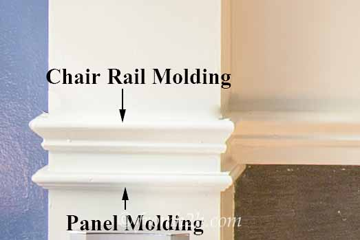 Chair Rail and Panel Molding | How To Build A Traditional Fireplace Mantel (on a budget)