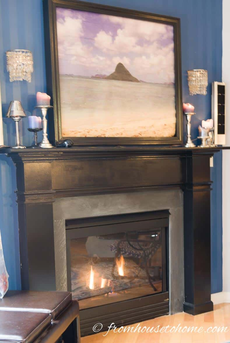 Fireplace Painted Black | How To Build A Traditional Fireplace Mantel (on a budget)