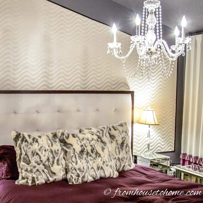 Chandeliers in the bedroom always feel romantic | How To Make Your House Feel Like Home