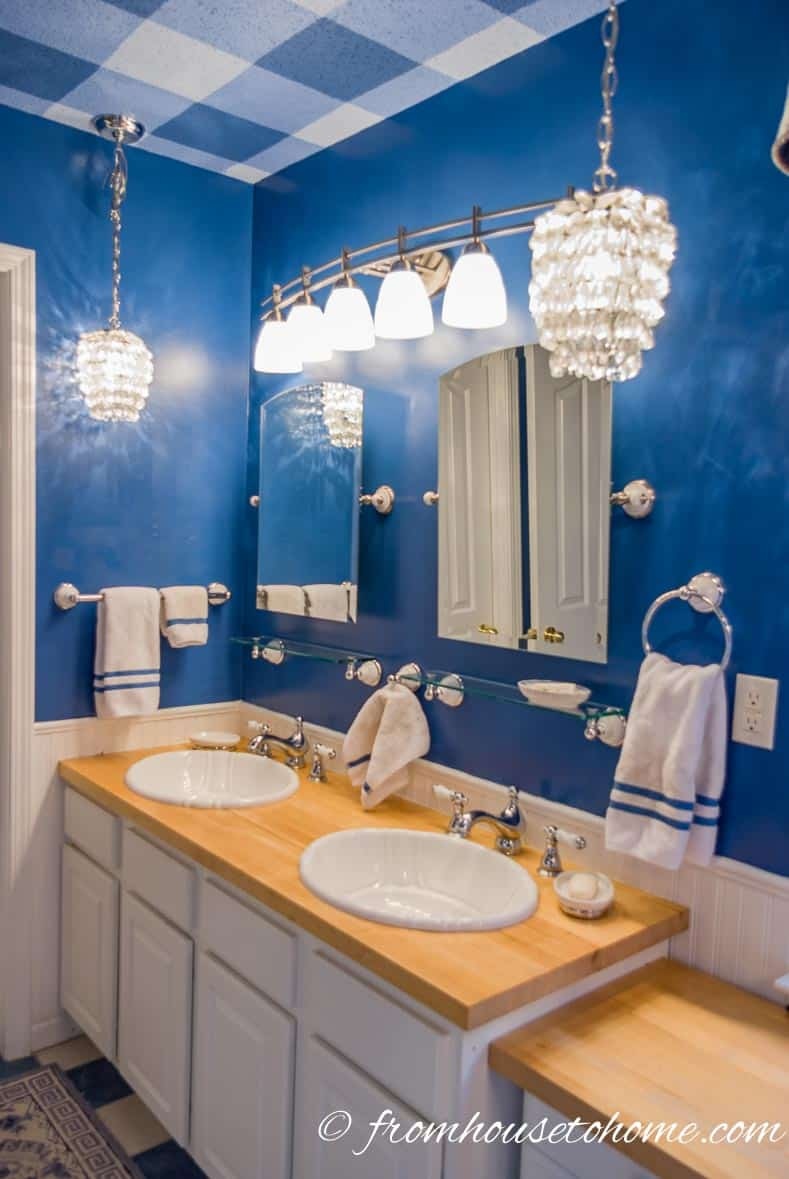 Upgraded countertops and sinks | How To Beautify a Boring Builder Grade Bathroom