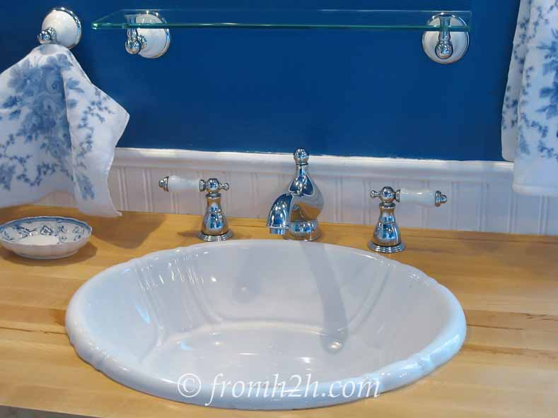 Upgrade faucets and sinks | How to Beautify a Boring Builder Grade Bathroom