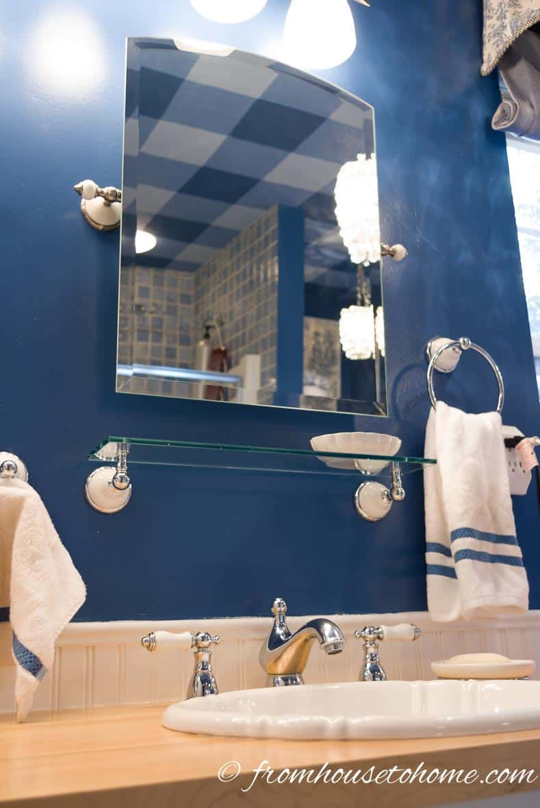 Upgrade Fixtures and Mirrors | How To Beautify a Boring Builder Grade Bathroom