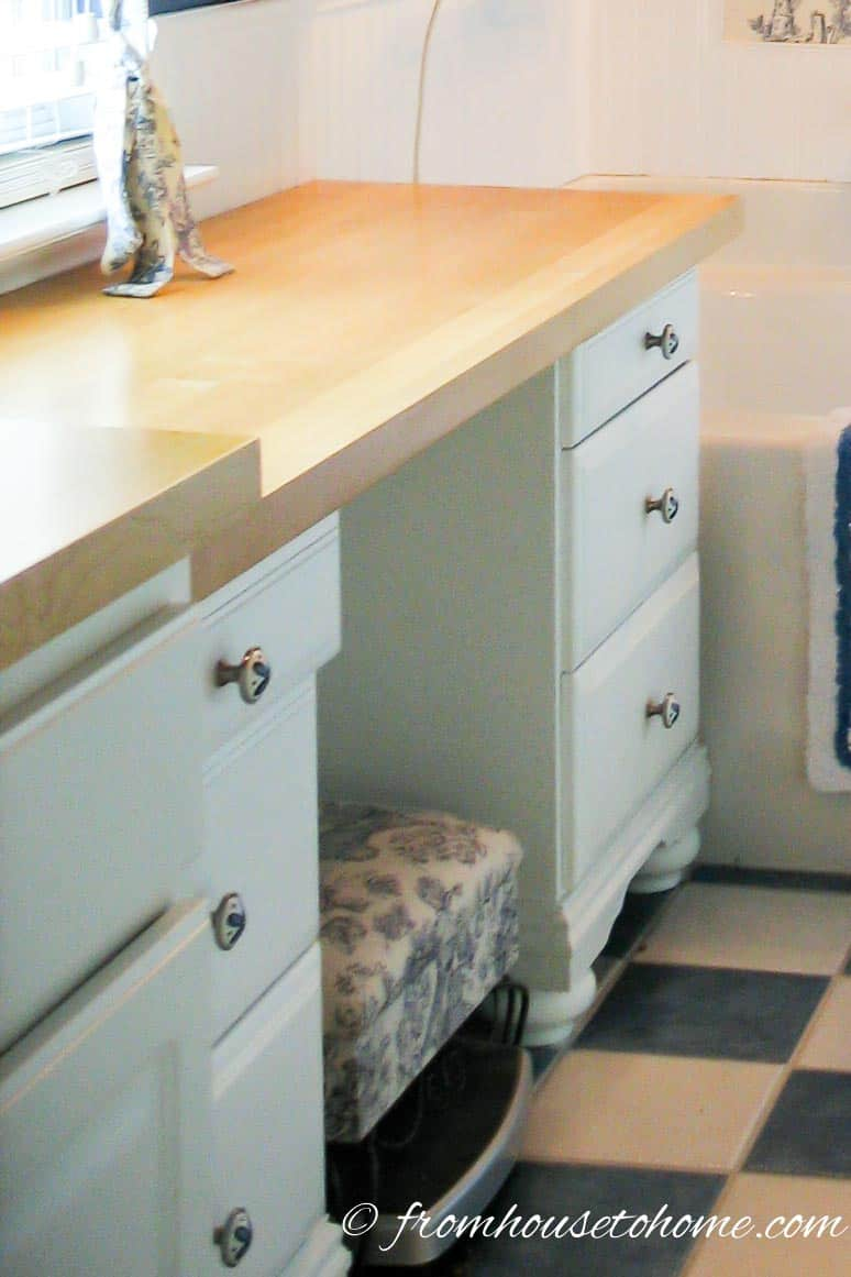 Use Bedside Tables For Extra Storage | How To Beautify a Boring Builder Grade Bathroom