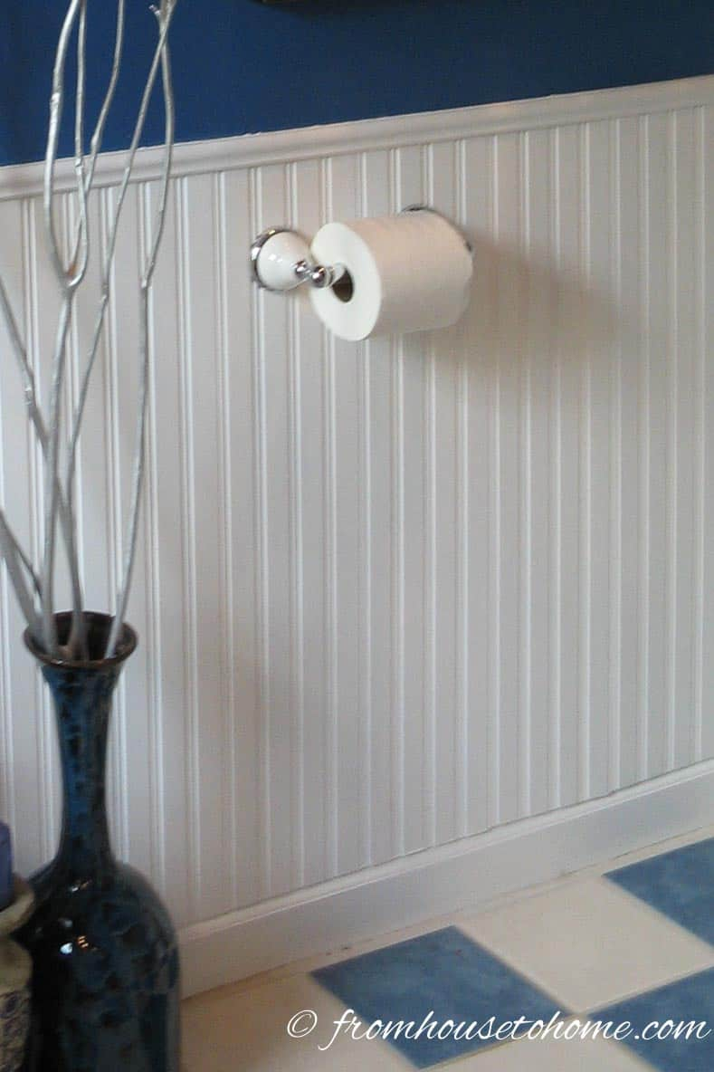 Master Bathroom Wainscot | How To Beautify a Boring Builder Grade Bathroom