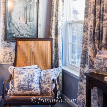From Beige to Toile – A Builder Grade Bedroom Makeover