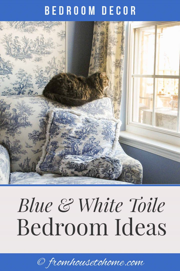 Blue and white toile bedroom ideas