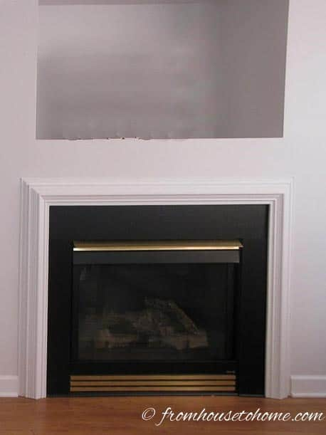 Fireplace - Before | How To Build A Traditional Fireplace Mantel (on a budget)