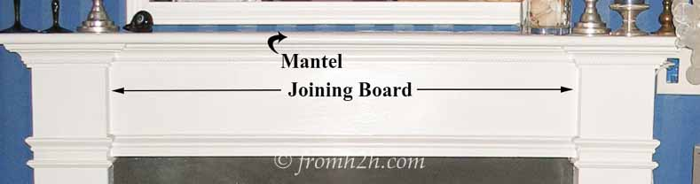 Mantel and Joining Board | How To Build A Traditional Fireplace Mantel (on a budget)