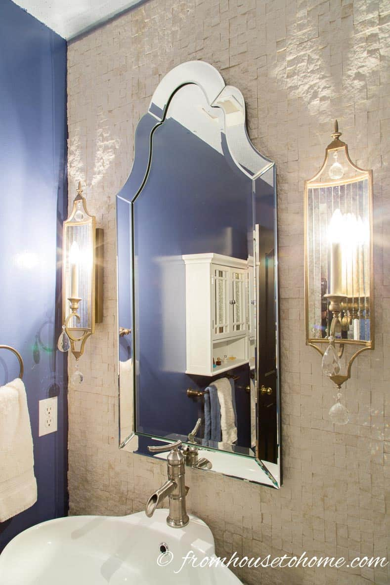 Use a Venetian mirror in the bathroom