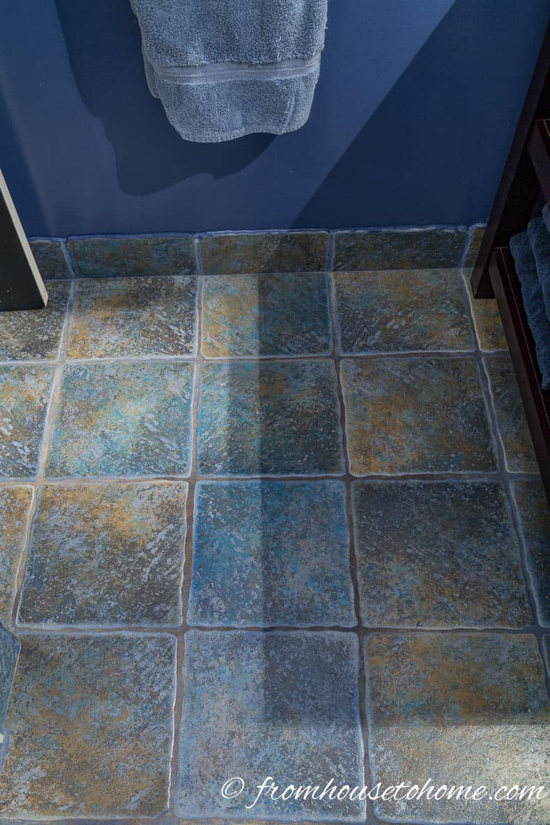 Bathroom floor tiles | How to Renovate a Small Bathroom on a Budget