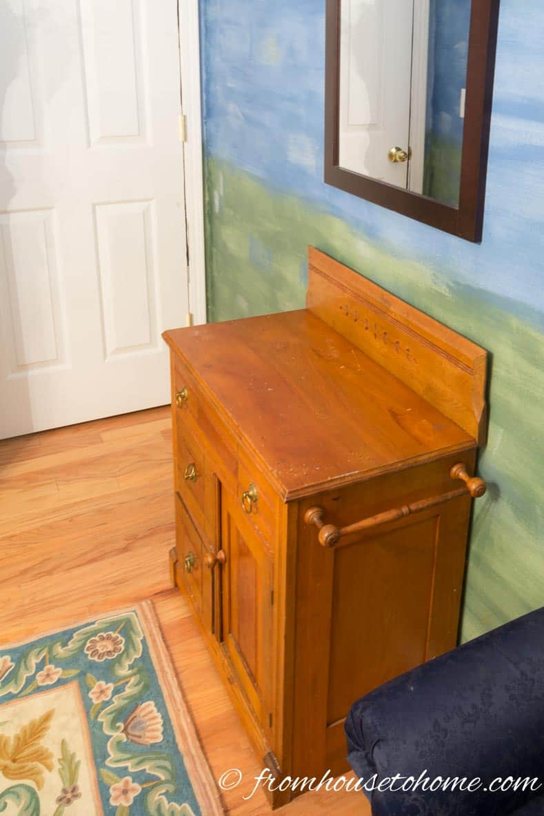 Wash stand as dresser