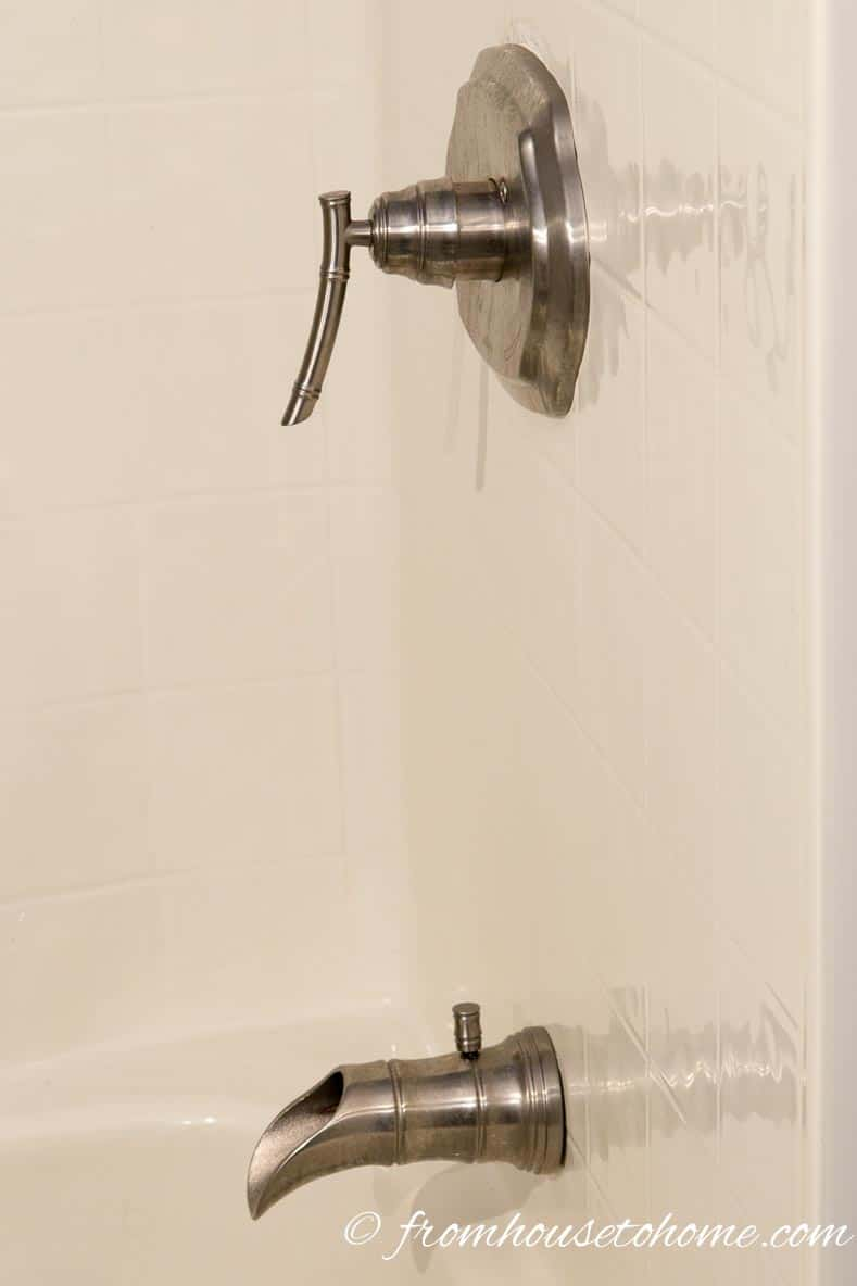 New bath faucets | How to Renovate a Small Bathroom on a Budget