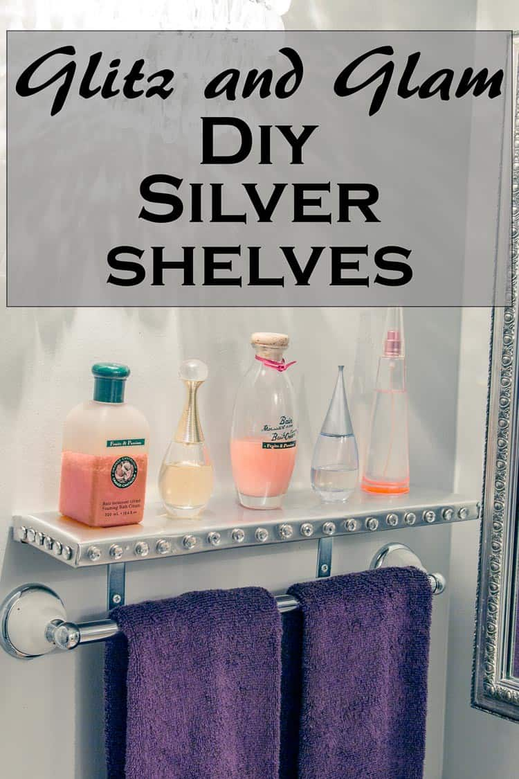 DIY Silver Shelves