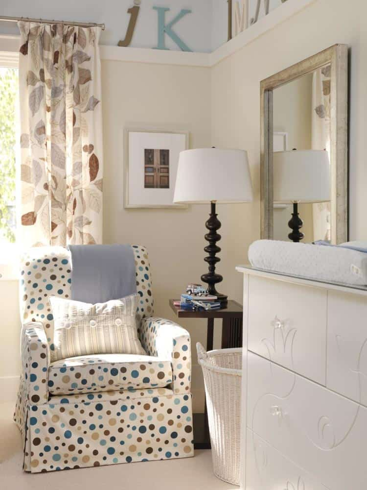 Another example of many fabric patterns combined in a small space - from Sarah's House on HGTV |How To Pick The Right Fabrics Every Time? The Mix and Match Fabric Formula