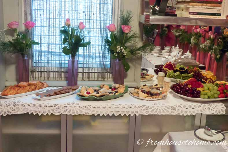 Tea Party Buffet | Build a Glam Wall Unit from IKEA Kitchen Cabinets