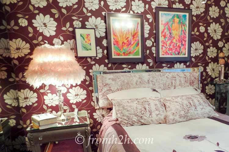 The original wallpaper | From Eclectic To Serene Bedroom Makeover