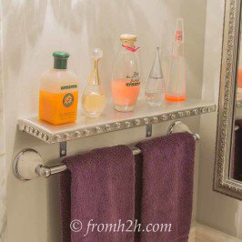 Glitz and Glam DIY Silver Shelves