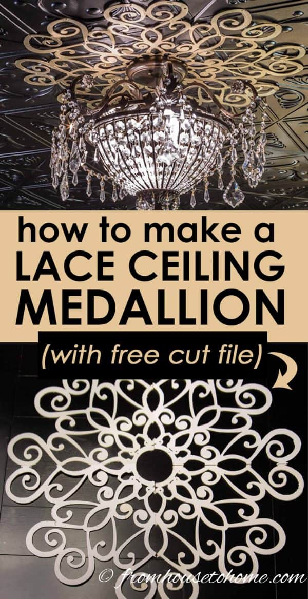 How to make a lace DIY ceiling medallion, with free cut file