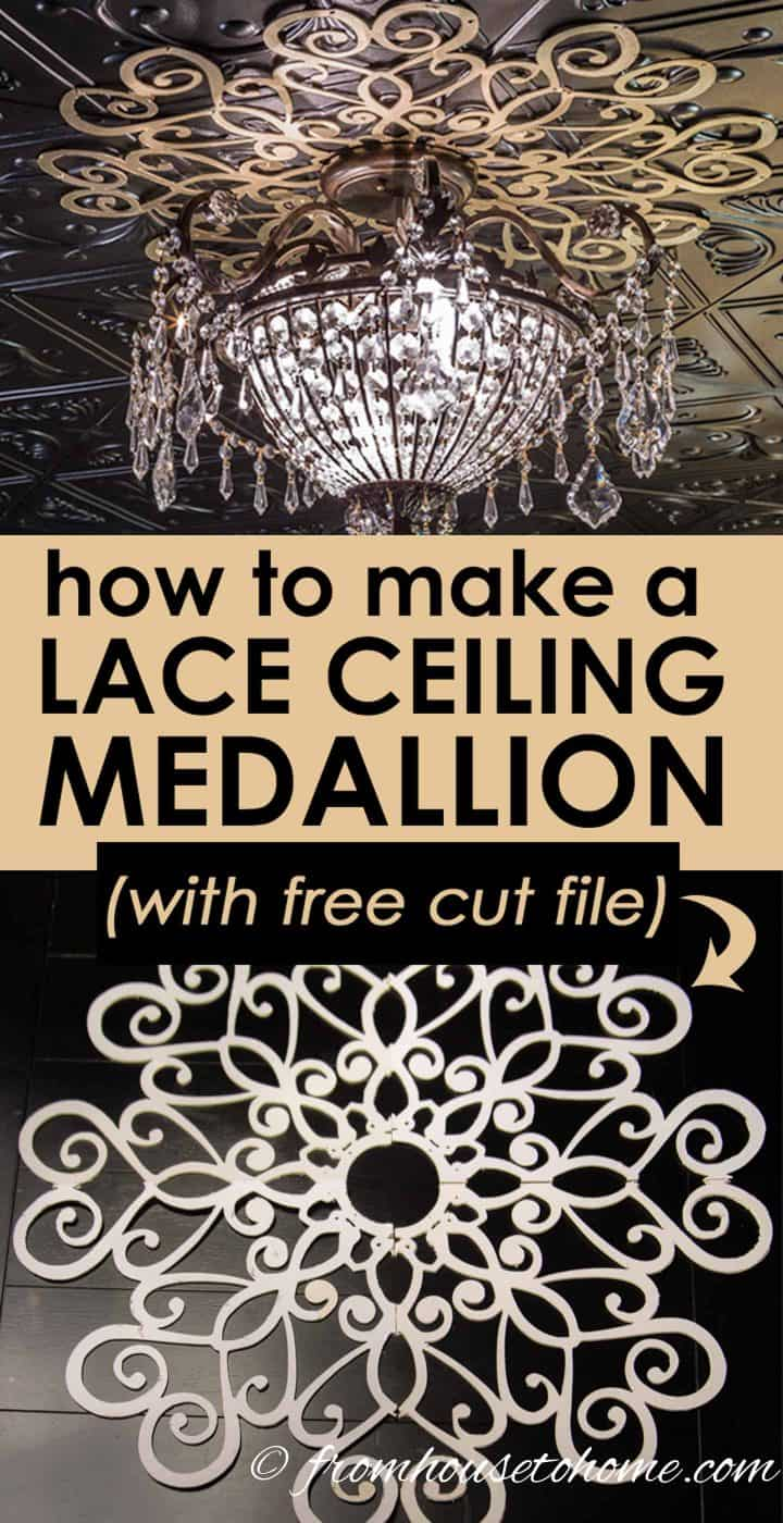 Lace DIY Ceiling Medallion