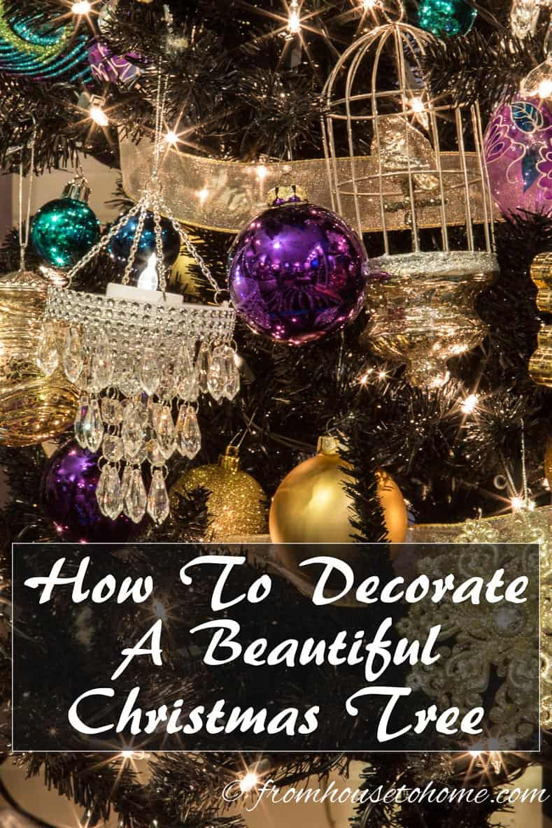 How To Decorate a Beautiful Christmas Tree | Need some help making your Christmas tree look magical? Follow these step-by-step instructions to make sure it looks beautiful.