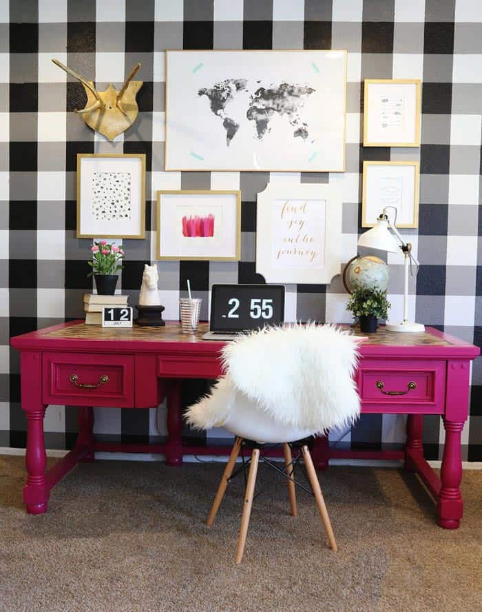 Buffalo check wall | 7 Interesting Ways To Paint Your Walls