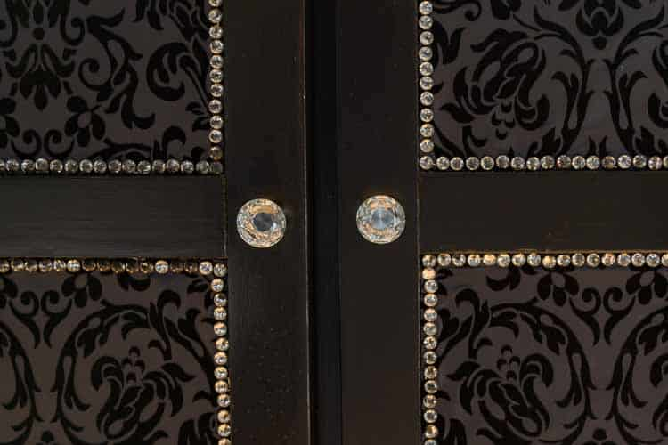 The crystal knobs finish the look