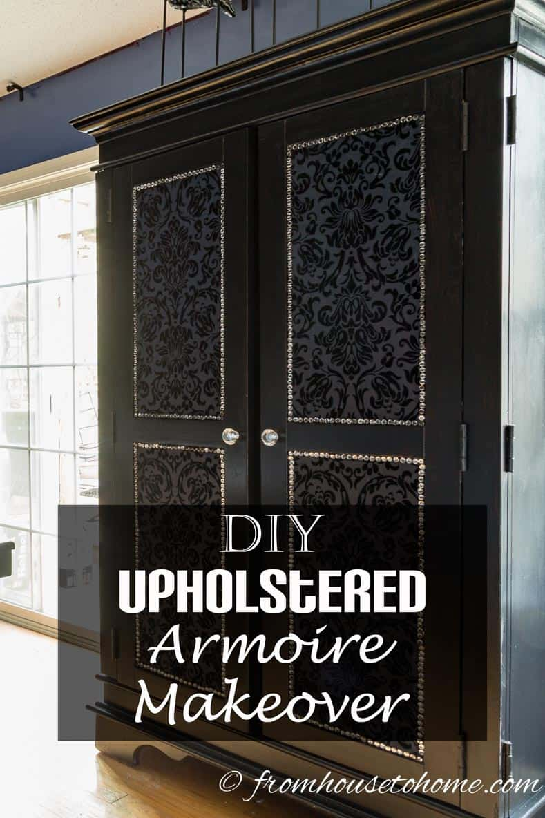 DIY Upholstered Armoire Makeover