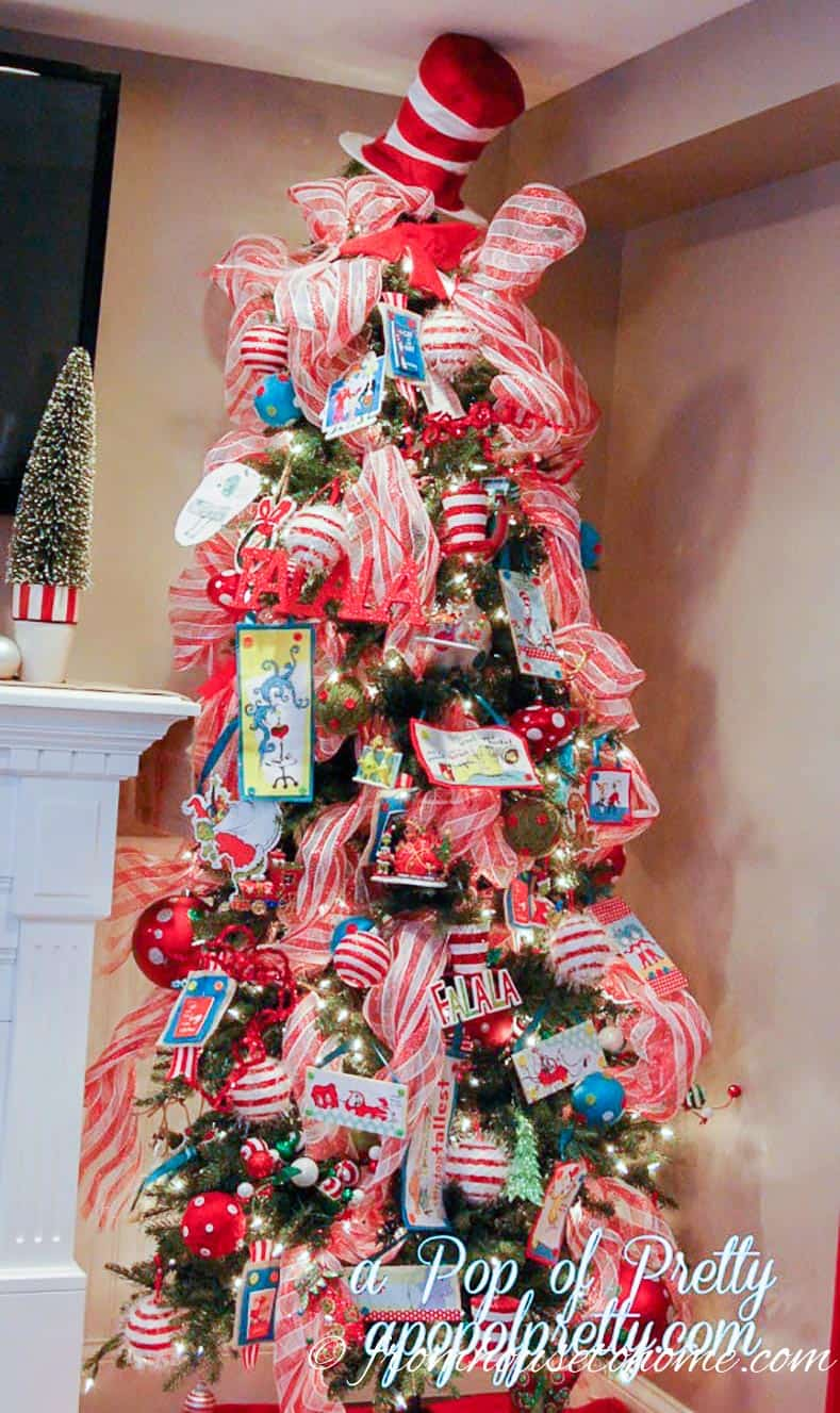 Dr Seuss Christmas tree by apopofpretty.com | How To Decorate a Beautiful Christmas Tree