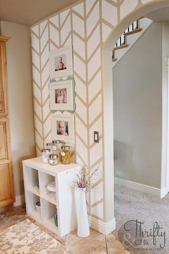 Painted herringbone pattern | 7 Interesting Ways To Paint Your Walls