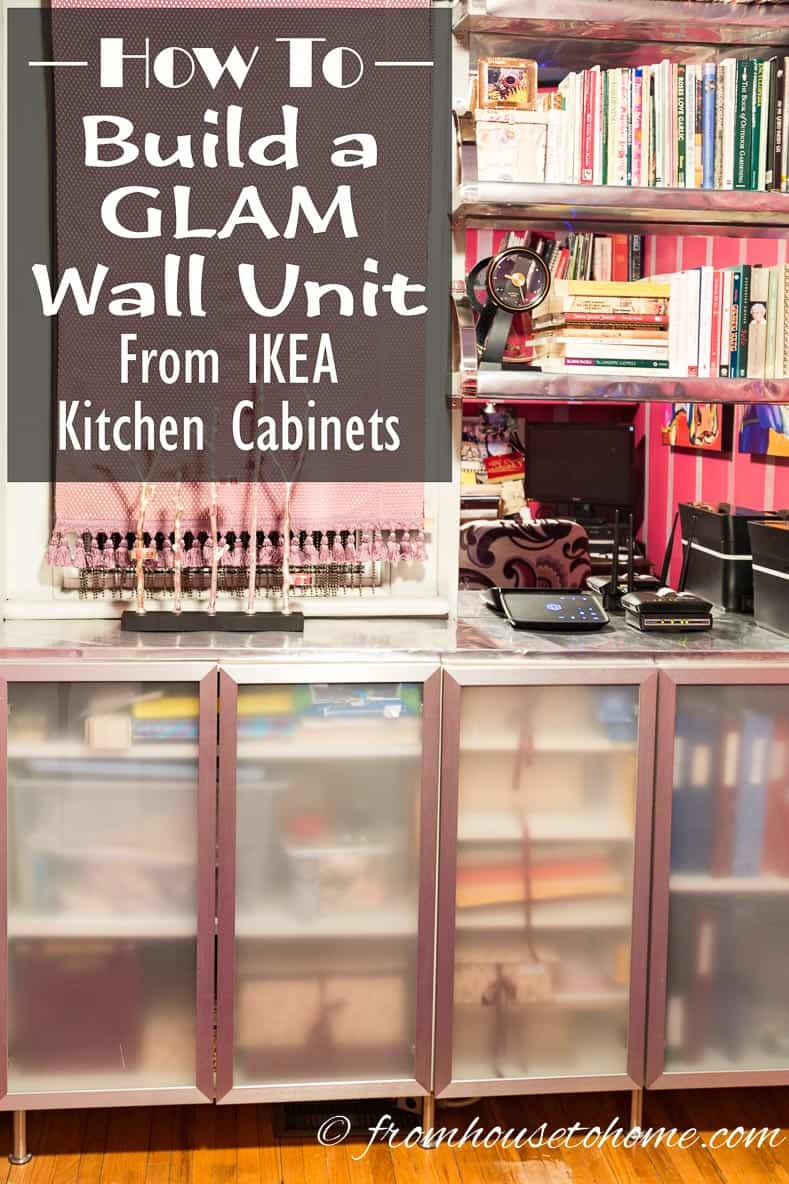 How to build a Glam wall unit from IKEA kitchen cabinets