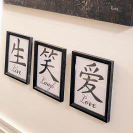 DIY Live Laugh Love Art
