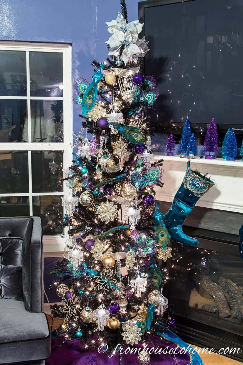 The peacock-inspired Christmas tree | How To Decorate a Beautiful Christmas Tree