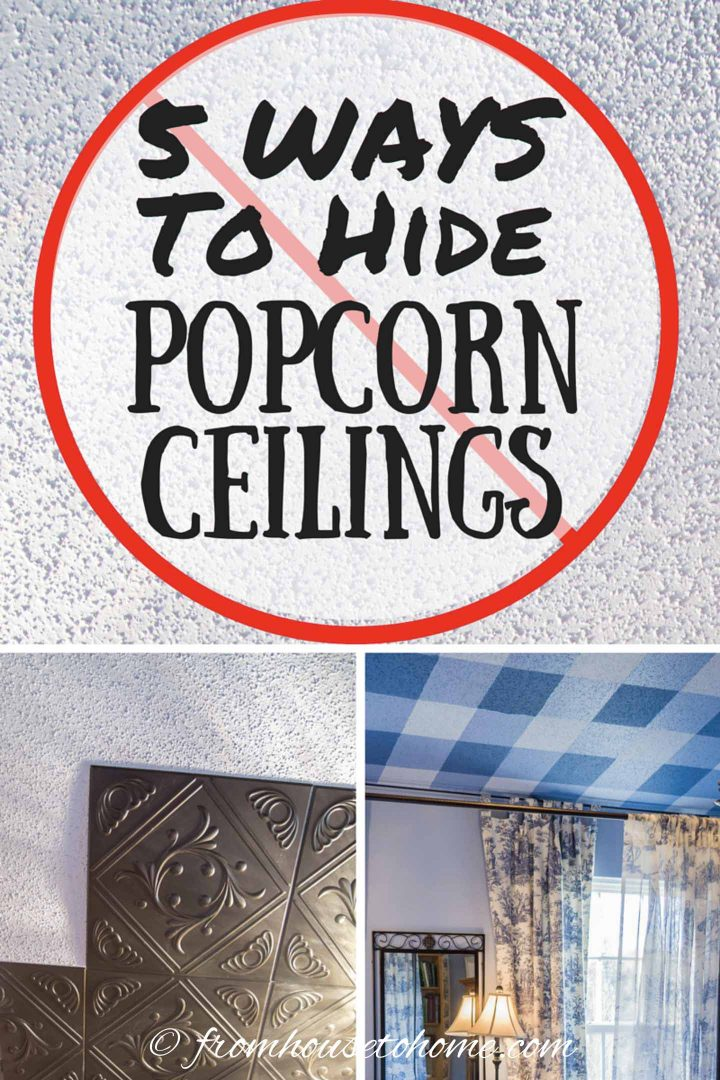 how to cover popcorn ceilings