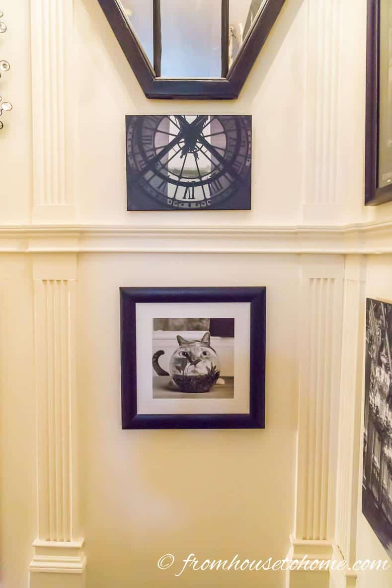 Break up a large wall with moldings