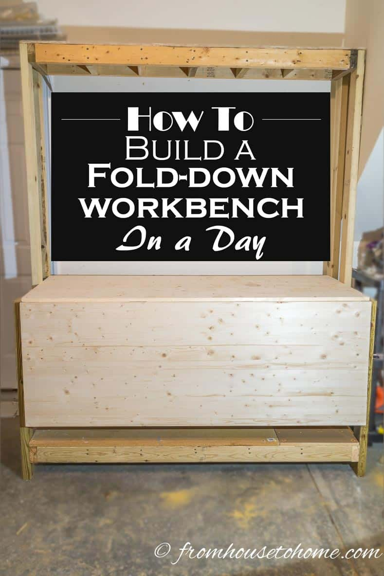 How To Build a Fold Down Workbench in a Day | Need a workbench that doesn't take up too much space?  Don't want to spend a lot of time building it?  See how to build a fold down workbench in a day.