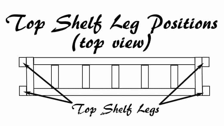 Top Shelf Leg Positions | How To Build a Fold Down Workbench in a Day