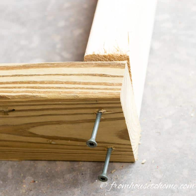 Turn the board on its side to install | How To Build a Fold Down Workbench in a Day